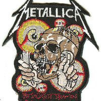 Metallica Iron-On Patch Shortest Straw Skull Logo