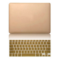 For Macbook Air 11 13 Pro 13 15 Pro 13 15 Retina Sleeve Luxury Ultra Thin Gold Hard Matte Cases + Free Membrane Keyboard Cover