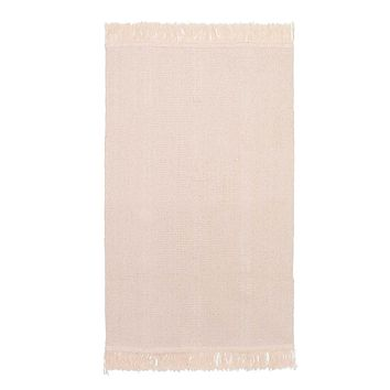 Ink Trendz®  Flat Woven Natural Boho Style Cotton Rug