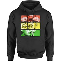 Roll It Lick It Smoke It Rasta  Adult Hoodie Sweatshirt