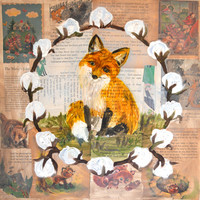 fox art, fox print, fox art print, fantastic mr fox, fox painting, fox nursery art, fox nursery decor, fox nursery print, fox nursery, book