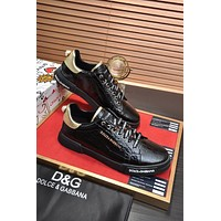 D&G  Men Fashion Boots fashionable Casual leather Breathable Sneakers Running Shoes0522qh