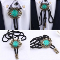 Japan Korean Bolo Tie Wedding Groom Bride Dress Suit Bow Tie Original Design Led Rope Rhinestone Bolo Tie Necklace