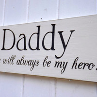 Daddy or Father Small Carved Wood Sign