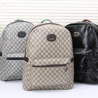 Gucci' Men Casual Fashion Simple Classic Print Backpack Large Capacity Travel Double Shoulder Bag