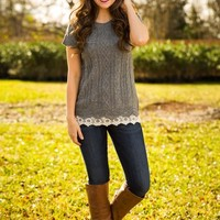 The Simple Things Sweater-Grey - NEW ARRIVALS
