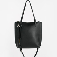 Jenna Black Crossover Faux Leather Bag