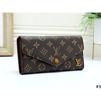 LV 2019 new female flip cover clutch purse card holder #3