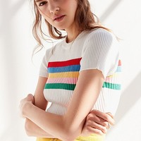 UO Lizzie Striped Sweater Tee | Urban Outfitters