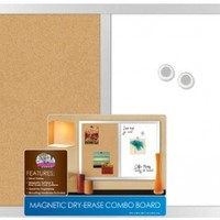 """Board Dudes 17"""" x 23"""" Silver Frame Magnetic Dry Erase/Cork Combo Board (15092-4):Amazon:Office Products"""
