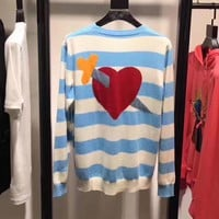 GUCCI Woman Men Fashion Knit Top Sweater Pullover