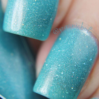 Hold Up the Sky - pastel blue holographic polish