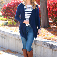 Basic At Its Best Cardi - Navy