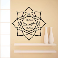 Wall Decal Quotes Home Sweet Home Lotus Yoga Flower Design Vinyl Decals Living Room Bedroom Hotel Hostel Window Stickers Home Decor 3760