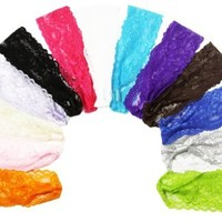 "12 Piece - 2"" Lace Headband Assortment (1 dozen)"
