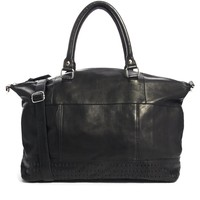 ASOS Leather Holdall With Panel Detail
