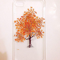 Handmade Real Natural Pressed Flower iphone 6 6 plus case iphone 4s 5 5s 5c case cover samsung galaxy s5 note 2 note 3 case orange tree