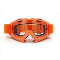 Adult Colourful double Lens Snow Ski Snowboard Goggles Motocross Anti-Fog Fashion Eye Protection Orange Lucency
