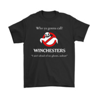 PEAPINY Who Ya Gonna Call Winchesters Supernatural Ghostbuster Shirts
