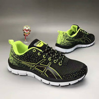 """""""ASICS"""" Fashion Casual Breathable Knit Fly Line Anti-skid Bottom Sneakers Women Running Shoes"""