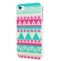 Highsound Triangle Striped Beauty Design Hard Back Shell Case Cover for Apple Iphone 4 4s