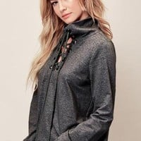 Josie Lace Up Pullover