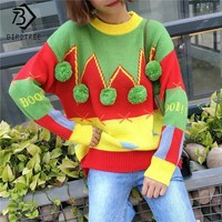Knitted Christmas Ugly Sweater