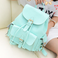 College Style Nice Mint Green Backpack