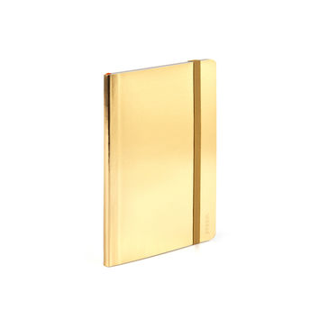 Metallic Gold Small Soft Cover Notebook | Notebooks & Journals | Poppin