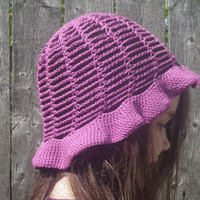 Cotton bucket hat in Orchid