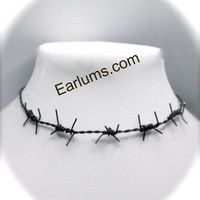 Handmade Barbed Wire Necklace Choker