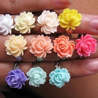 Open Rose Adjustable Ring by Love What's Missing
