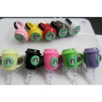 Amazon.com: 10pcs Starbucks Coffee Cup 3.5mm Anti Dust Earphone Jack Plug Stopper Cap for Iphone HTC: Cell Phones & Accessories