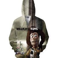 The Walking Toys Zip-Up Hoodie