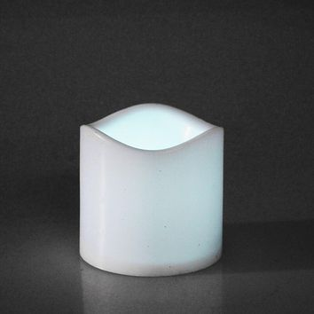 Flameless Plastic Candle LED Light, White, 3-Inch