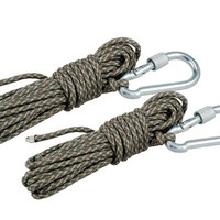 ACU Outdoor Camping Tent Rope Survival Parachute Cord 2 Pieces Pack (Gray)