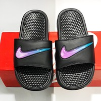 NIKE Fashionable Women Men Casual Flat Sandals Slippers Shoes