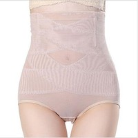 2018 High Waist Abdomen Underwear Trousers Body Sculpting Ladies No trace Briefs Waist Trainer rhombus push up