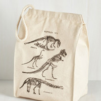 Nifty Nerd Part of a Balanced Dino Lunch Bag by ModCloth