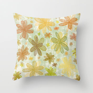 4 Seasons - Autumn Throw Pillow by Alice Gosling