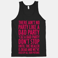 Ain't No Party Like A D&D Party | T-Shirts, Tank Tops, Sweatshirts and Hoodies | Human