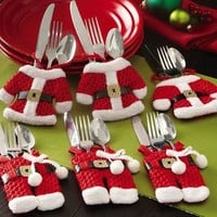 Christmas Cutlery Placement Set
