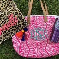 ULTIMATE SUMMER BUNDLE, Monogrammed Bag, Cup and Towel