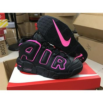 Nike Air More Uptempo Air Black Pink 415082-003 Size 36-40