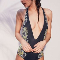 Summer Hot New Arrival Swimsuit Beach Sexy Swimwear Backless Floral Bikini [8678835021]