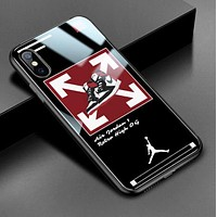 Off White New fashion arrow shoes letter people print couple protective cover phone case