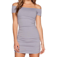 Susana Monaco Jona Dress in Gray