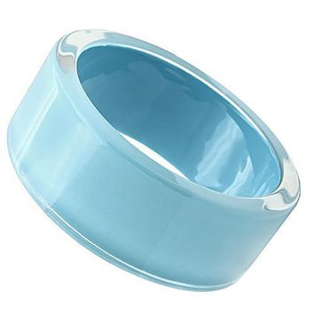 Bangle Bracelets VL045 Resin Bangle with Synthetic in Sea Blue