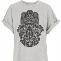 **Hand Boyfriend T-Shirt by Illustrated People - Jersey Tops  - Clothing