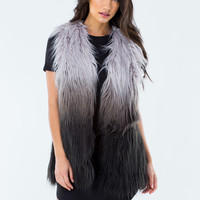 Better On Jane Ombre Faux Fur Vest